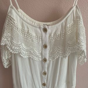 WHITE OFF THE SHOULDER ROMPER